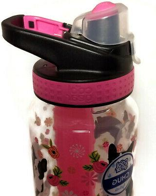 Cool Gear PINK TERRIER DOG Stick Hydration Bottle 32 oz