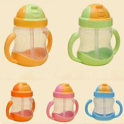 Portable Infant Baby Milk Water Bottle Straw Drinking Bottle