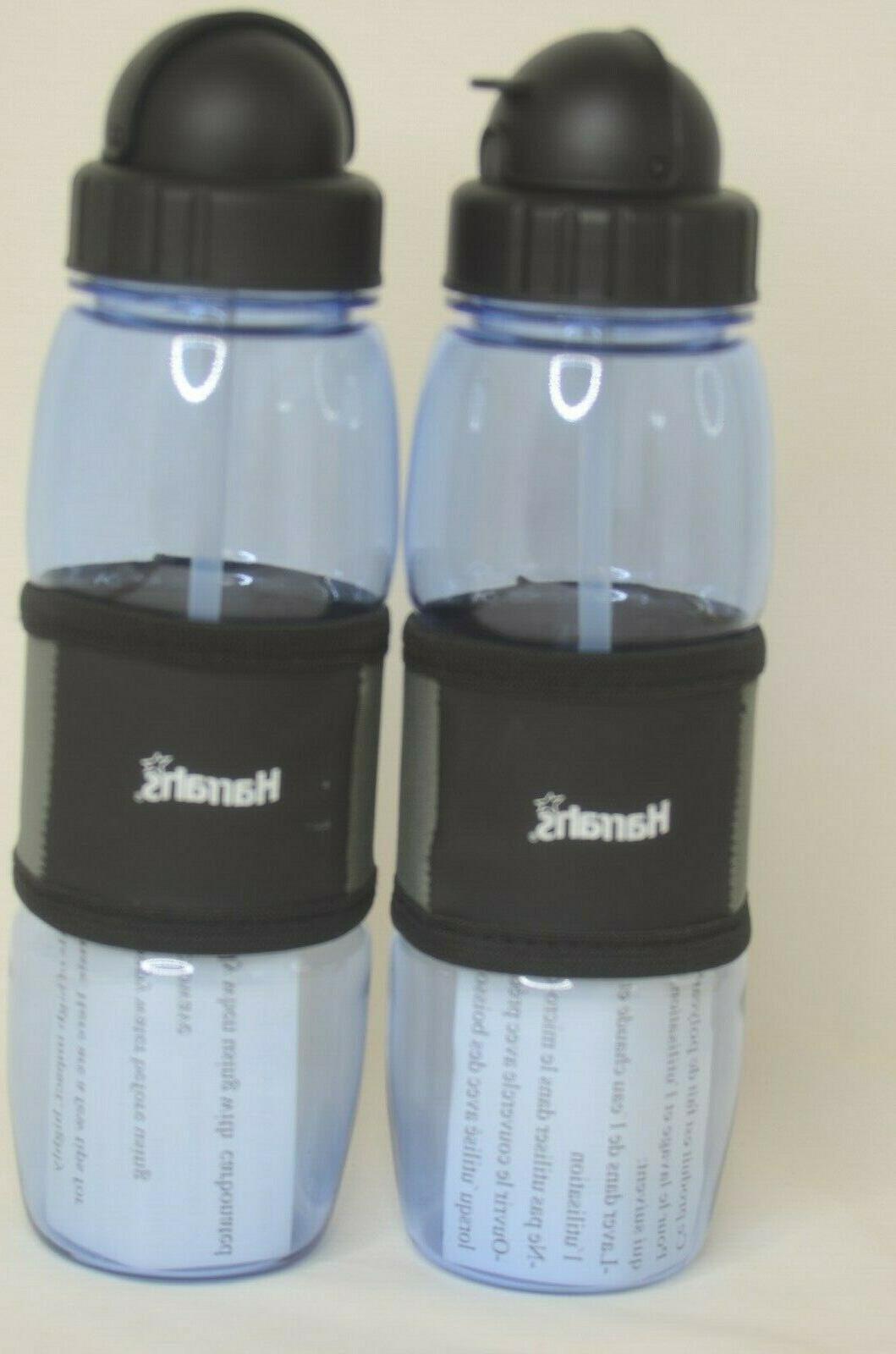 resort plastic water bottles two with carabiner