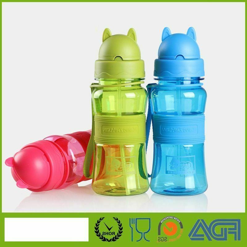 Sports Drinking Water Bottle With Straw For School Kids Plas