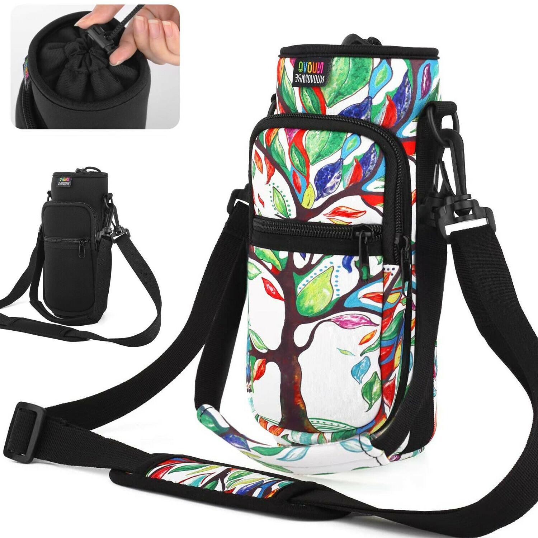 sports water bottle carrier bag 2 pocket