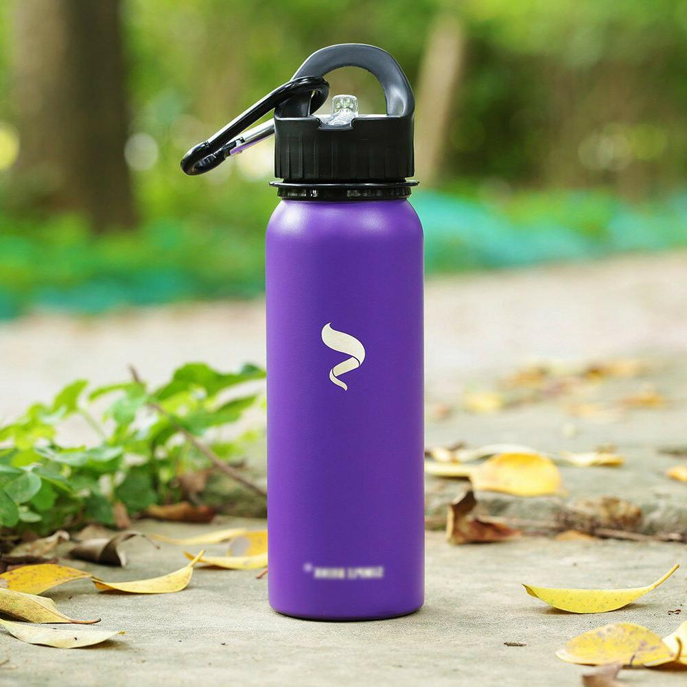 Sports Water Bottles Stainless Steel Lid And Portable Handle -