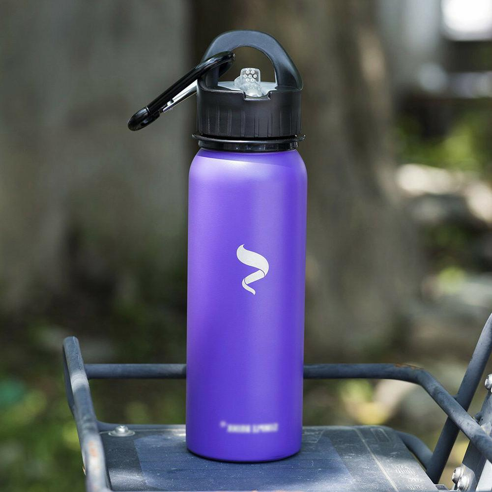 Sports Water Stainless Steel With Lid And Portable -