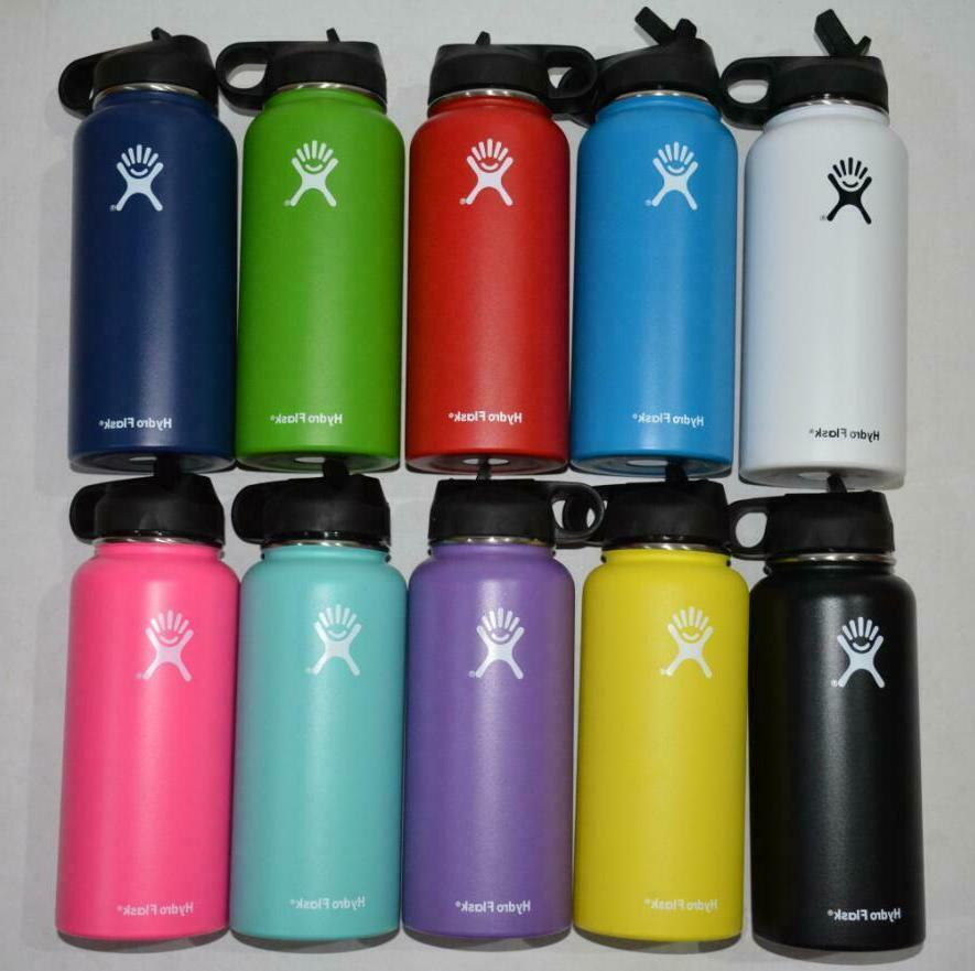 Hydro Flask Stainless Water Bottle Thermos Straw Lid Drinking US