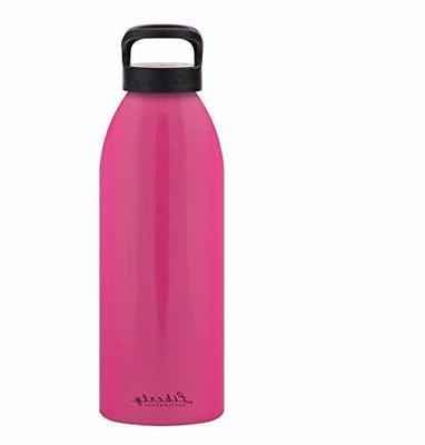 straight up aluminum water bottle 24oz flamingo