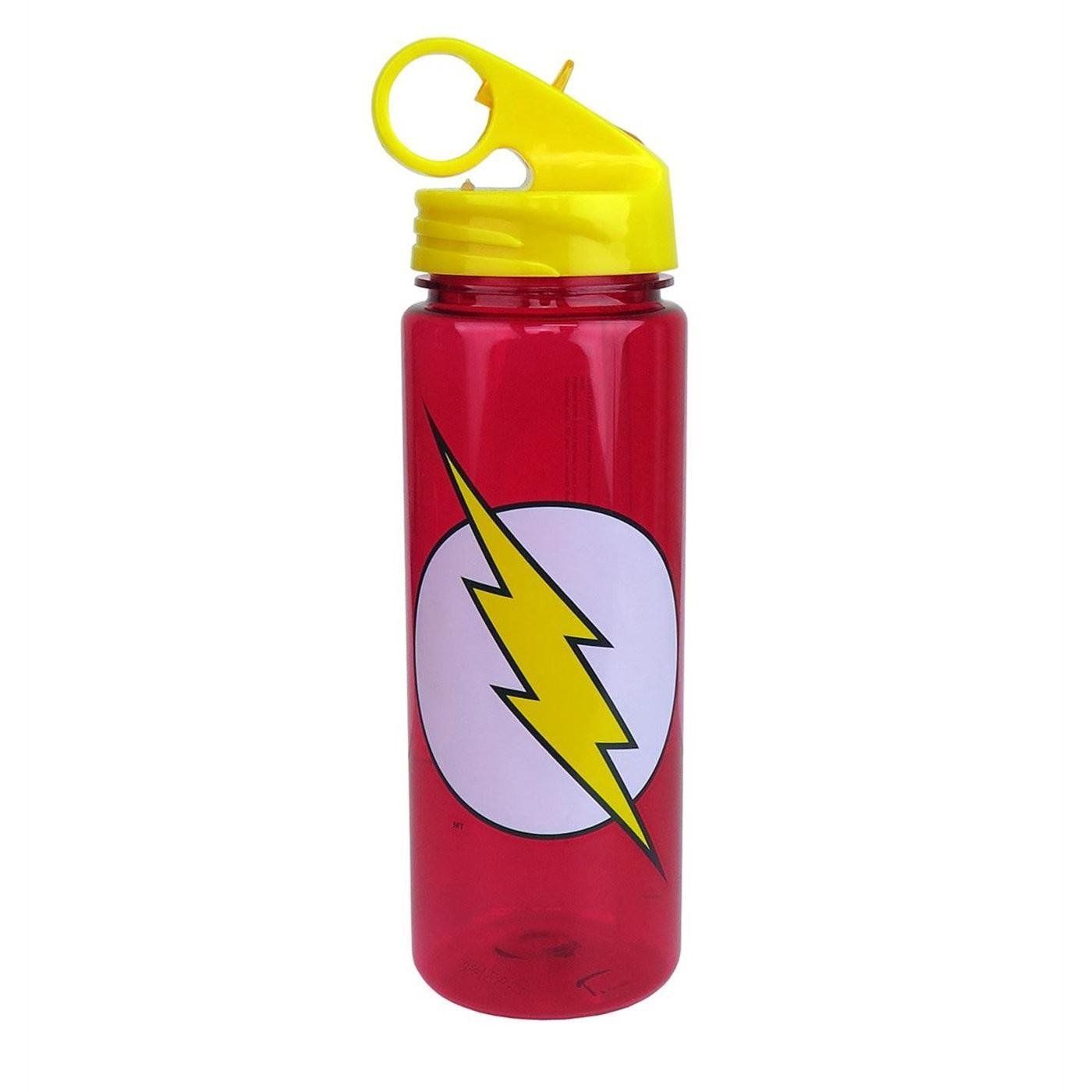symbol 20oz water bottle red