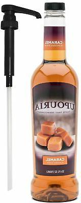 Upouria Caramel Flavored Syrup 100% Vegan, Gluten-Free, 750m