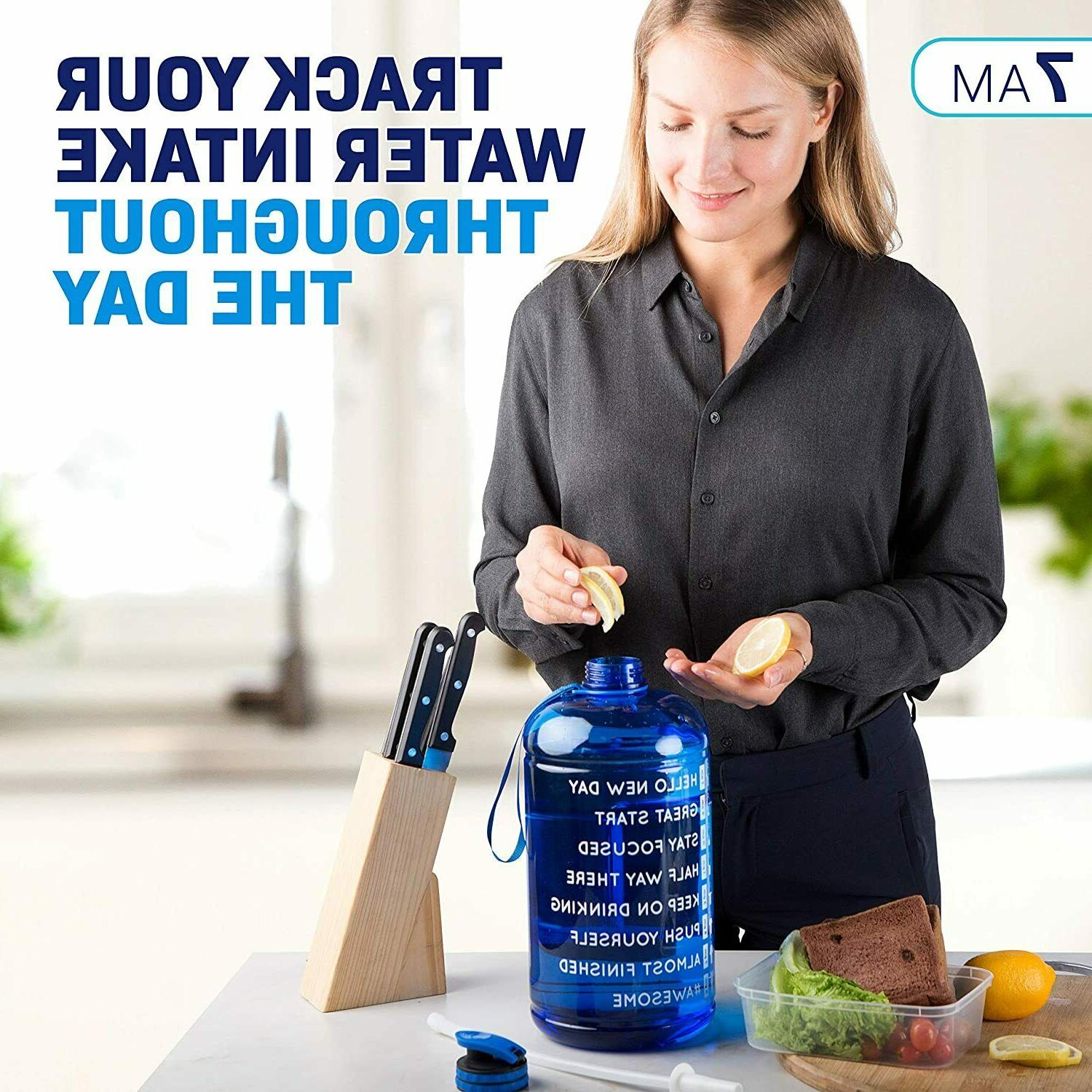 Water 1 with Time Marker Straw Increase Daily Water