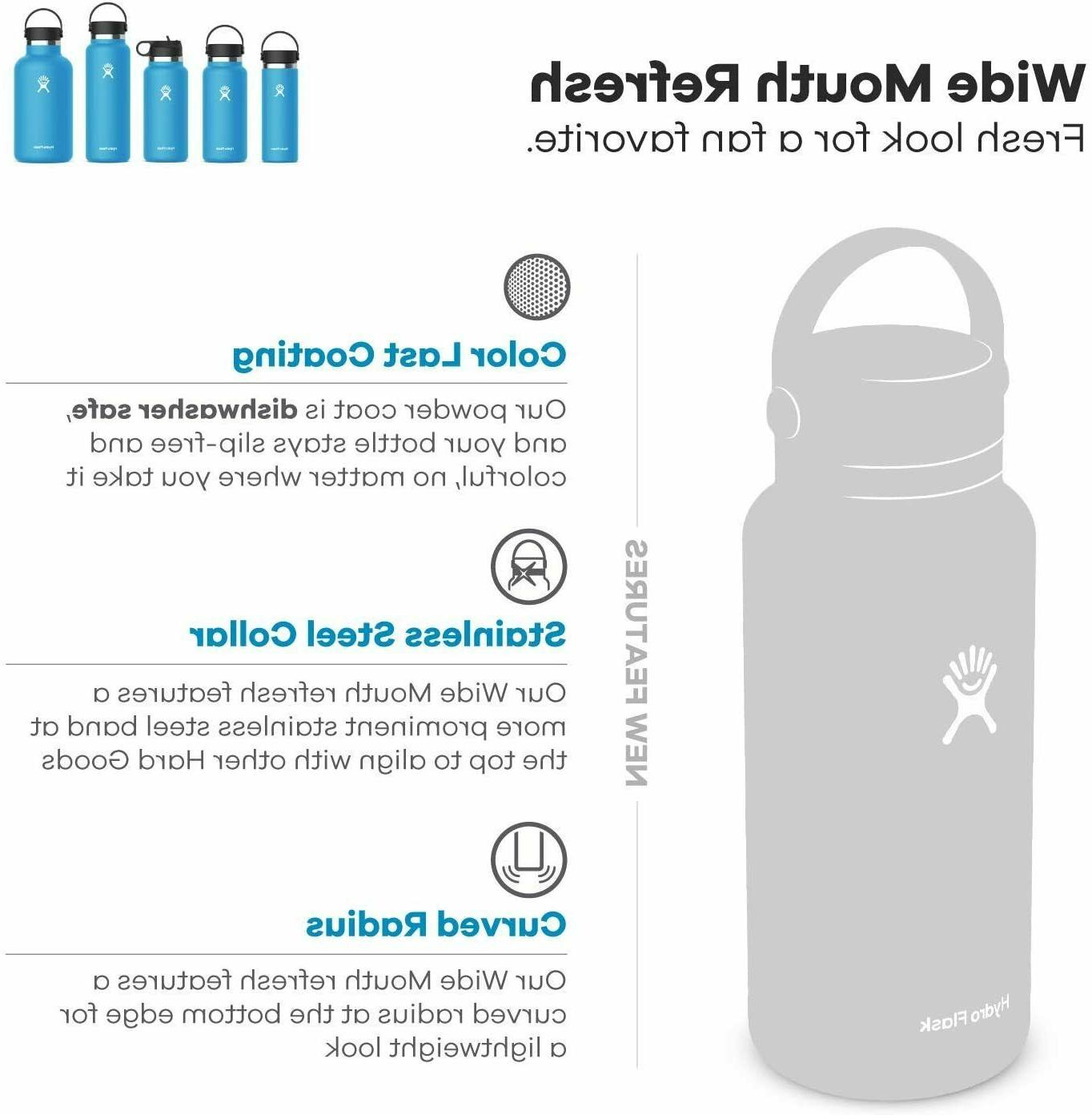 Hydro Flask Water Bottle 32oz. Wide Mouth 2.0 Stainless Steel Vacuum
