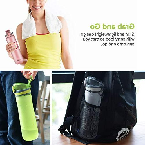 Letsfit Sports Bottle, Bottle Cap, Carry Loop, Bottle for Outdoor Camping