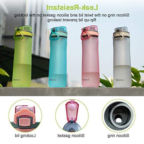 Letsfit Water BPA-Free Bottle with Locking Lid, Cap, Carry Bottle for Outdoor Camping