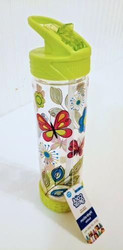 Cool Gear Water Bottle Butterflies 22 Oz