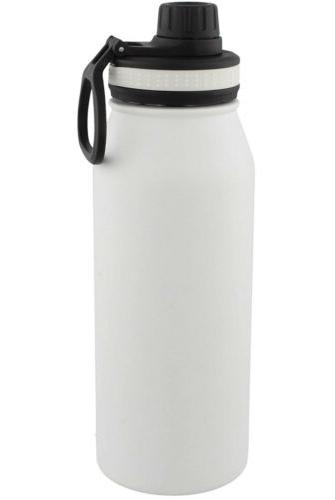 Adidas White Stainless Steel Water Bottle Oz NWT Metal Bottle - Double
