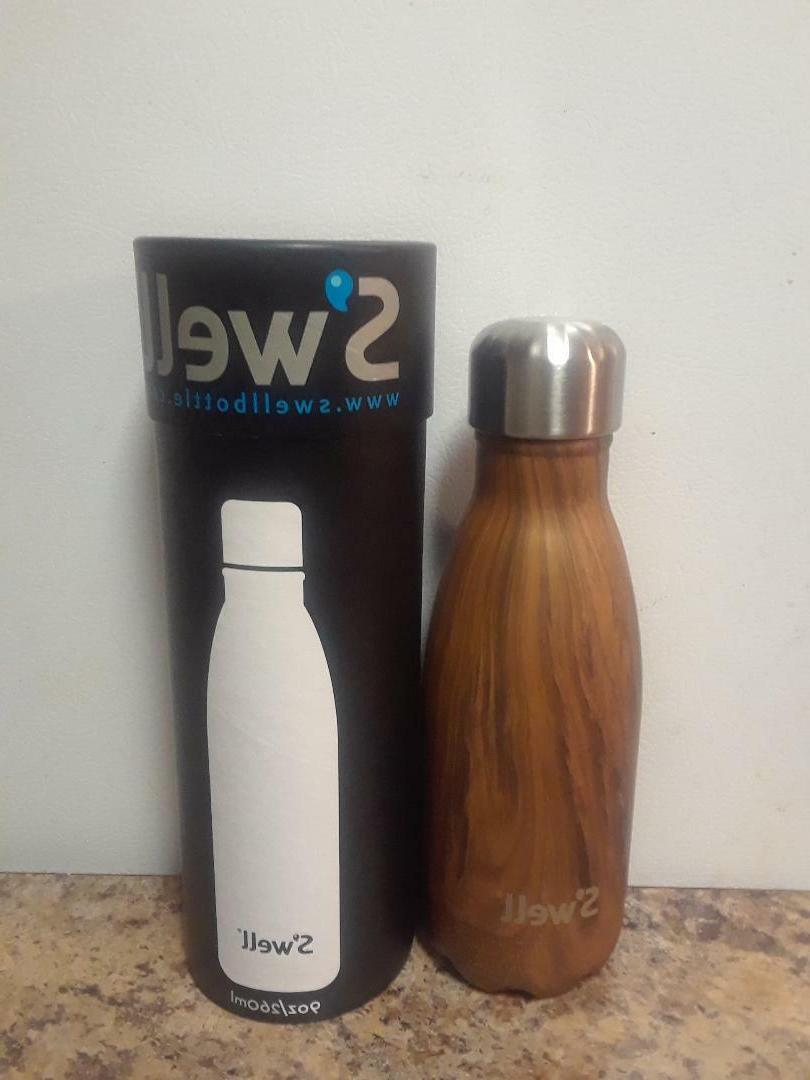 S'Well 'The Wood Collection - Teakwood' Insulated Stainless