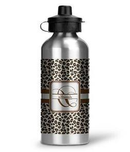 Leopard Print Water Bottle - Aluminum - 20 oz