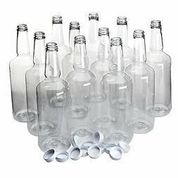 Long Neck Quart Plastic Bottles