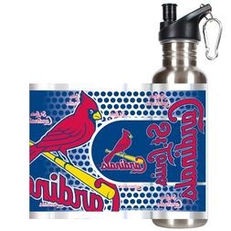 MLB St. Louis Cardinals Water Bottle with Metallic Wrap and