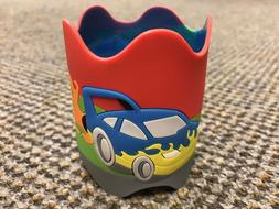 NAMESTAR PVC Cute Cars/Trains Water Bottle Wrap for Kids, Cr
