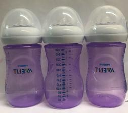 Philips Avent Natural Baby Bottles, Purple, 9 Ounce, - New