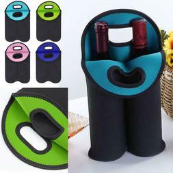 Neoprene Bottle Cooler Double Wine Bottle Tote Carrier Bever
