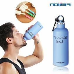 New 750ML Stainless Steel Water Bottle Drinking Gym Sport Ca