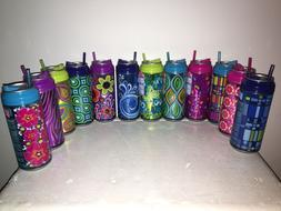 NEW Cool Gear Can BPA-Free Insulated 16oz Travel Cups W/ Str