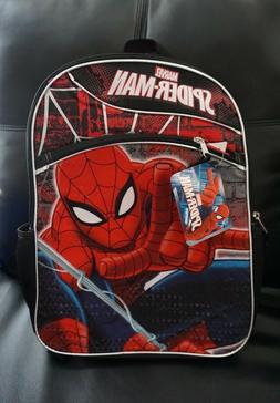 -New- Marvel Spider Man Backpack Side Bottle Pockets Cool Re