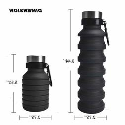 NEW Water Bottle,Silicone for Travel Gym Sports Water Bottle