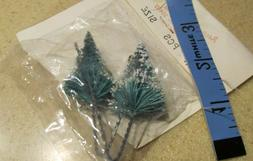 NIP Vintage Miniature Bottle Brush Christmas tree green snow