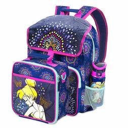 Disney NWT Tinkerbell Fairy Light Up Backpack+lunch tote box