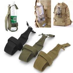 Chic Nylon Hiking Water Bottle Holder Backpack Belt Straps C