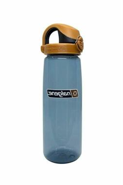 Nalgene On The Fly 24oz Water Bottle Clear Rhino w/Brown OTF