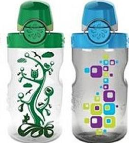 Nalgene Kids OTF with Green Cap Water Bottle ,12 oz.
