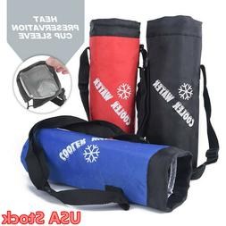 Outdoor Water Bottle Cup Carrier Insulated Cover Bag Holder