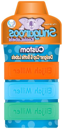 PACK of 3 Personalized Daycare Labels for Baby Bottles & Sip