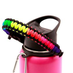 Paracord Handle for Hydro Flask Wide Mouth Water Bottles 12o