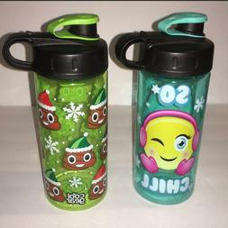 Cool Gear Plastic Water Bottle Kids Holiday Christmas BPA Fr