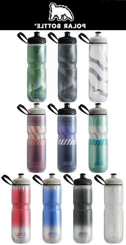 Polar Insulated Water Bottle Bike 24oz Assorted Patterns
