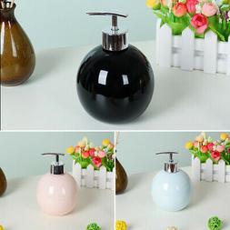 Refillable Empty Ceramic Clear Liquid Soap  Bottle with Plas
