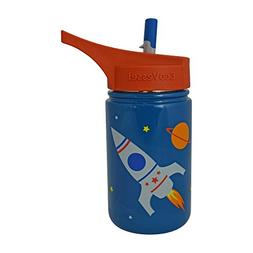 Scout Kids Single Wall Steel Bottle with Straw Top Blue with