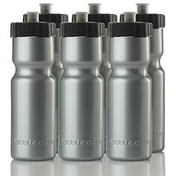 Set of 6 Strong Sports Squeeze Water Bottles Push/Pull Cap 2