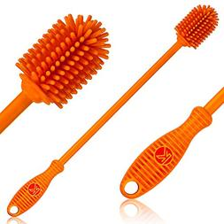 """Silicone Bottle Brush   One Pack   12.5"""" Bottle Cleaner for"""
