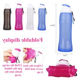Silicone Portable Foldable Water Bottle 500ml Collapsible Dr