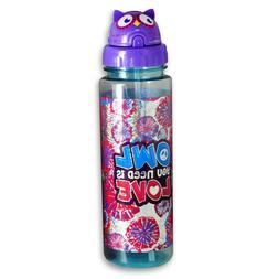 Sippin' Buddies 24 oz. Water Bottles with Flip Top Straw - O