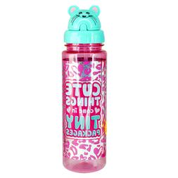 Sippin' Buddies 24 oz. Water Bottles with Flip Top Straw - T