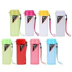 Sports Water Bottle Drink Bottle With Handle Strap Carrier H