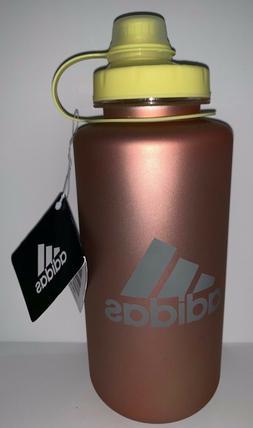Adidas Sports Water Bottle Tumbler Cup Orange Tan Nude Yello