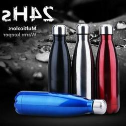 Stainless Steel Vacuum Insulated Water Bottle Thermos Hot/Co