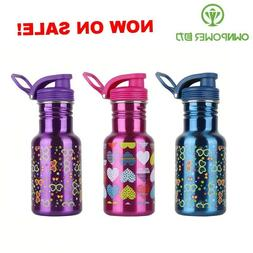 stainless steel Water Bottle no Straw For Girls Bottles Ther