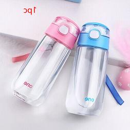 With Straw Portable Outdoor Sports Boys Girls Student Cartoo